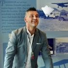 Dunedin Airport chief executive Richard Roberts enjoys the new Otago Museum Flight Zone machine,...