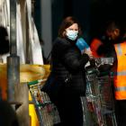 Food and essentials are distributed at the Alfred Street Public Housing Complex under lockdown in...