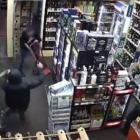 One robber was armed with a machete during the liquor store robbery. Photo: NZ Police