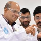 University of Otago pharmaceutical sciences senior lecturer Shyamal Das and his PhD students...