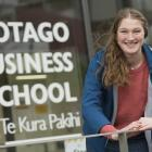 University of Otago business student Helena Hannas led a team in an enterprise competition and...