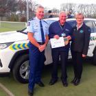 Senior Sergeant Roy Appley, Don Dalrymple, of the Christchurch South Community Patrol, and CPNZ...