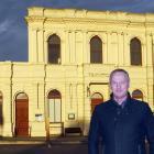 Waitaki Mayor Gary Kircher outside Oamaru's former i-Site building at the intersection of lower...