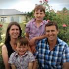 New Omarama School principal Bevan Newlands with wife Bridget and children William (9, back) and...
