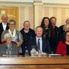 Members of the Waitaha Trust and the Waitaki District Council. PHOTO: GUS PATTERSON