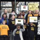 Protesting the pay gaps that still exist for some teachers, nearly 100 New Zealand Educational...