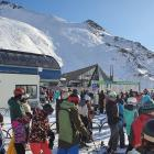 Fine weather and school holidays made for busy lifts at The Remarkables Ski Area, Queenstown,...