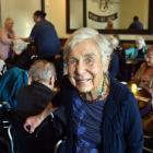 Glendale Retirement Home resident Marion Barnett (85) enjoys an outing at a South Dunedin...