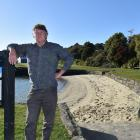 Simon Blake, of Broad Bay, is concerned about losing part of the beach and reserve in Broad Bay,...