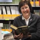 Retired St Hilda's Collegiate deputy principal Geraldine Corkery archives some of the school's...