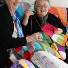Otago Pioneer Women's Memorial Association president Jean Park (left) and Dunedin Night Shelter...