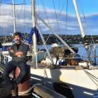 Skipper Steve Kafka and expedition yacht Evohe at Dunedin's Fryatt St wharf. PHOTO: PETER...
