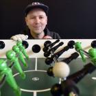 Paul Szyszka has started a foosball club in Dunedin. PHOTO: PETER MCINTOSH