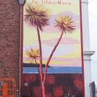 Aroha Novak completed the mural on a wall of the DC Turnbull & Co building in Strathallan St...