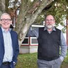 University of Otago sustainability head Ray O'Brien (left) and University Flats head Tony...