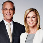Simon Dallow and Wendy Petrie. Photo: TVNZ