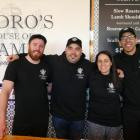 Pedro's by the Lake head chef Matias Valle, left, with owners Damian Brown and Maria De Leon ,...