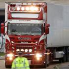 The bodies of 39 people were discovered in this truck in October last year. Photo: Reuters