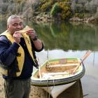 Ngamanu Panirau, of Karitane, caught enough whitebait on Saturday ''for a feed'', which he...