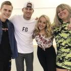 Alexia Brinsley, second right, with, from left, Magic Mike Live Australian lead Anthony Bartley,...