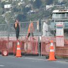 A last phase of work is under way at the edge of the Fryatt St wharf before the removal of...