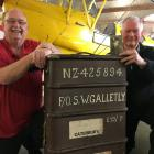 Ashburton Aviation Museum president Warren Janett (left) and Warren Galletly with his father...