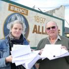 Project Bruce community development worker Kim Schiller and former St John volunteer Brian McLeod...