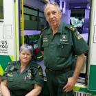 Milton St John station officer Malcolm Flett, pictured with volunteer first responder Ali Maw,...