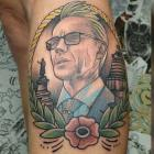 Dr Ashley Bloomfield has been immortalised in ink after a Kiwi woman decided to pay homage to the General Director of Health. Photo / Dave Mouat