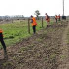 Agri Training trainees get practical fencing experience during the rural retraining foundation...