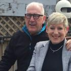 Lianne Dalziel and husband Rob Davidson. Photo: RNZ