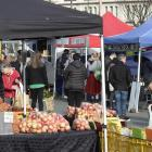 Shoppers at the Otago Farmers Market on Saturday. PHOTOS: GERARD O'BRIEN