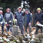 West Otago Dad's Army volunteers (rear, from left) Pat Sloane, Richard Bartlett, John O'Sullivan...