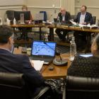 Dunedin Mayor Aaron Hawkins addresses Dunedin city councillors, Dunedin City Council staff and...