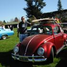 Jason Wells, of Christchurch, with his Cali-style 1966 Volkswagen Beetle at last year's Rock'n...