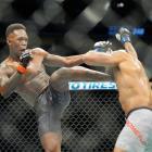 Israel Adesanya in his last fight against Yoel Romero. Photo: Getty Images