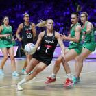 Silver Ferns centre Laura Langman in action against Northern Ireland. Photo: Getty Images