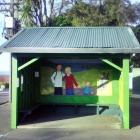 The historic Dunedin bus shelter at the intersection of Highgate and Drivers Rd in Maori Hill....