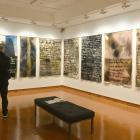 An art lover enjoys the new Colin McCahon exhibition at the Hocken Library. PHOTOS: LINDA ROBERTSON