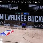 The Milwaukee Bucks did not emerge from the changing rooms this morning. Photo: Reuters