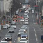 A recent picture of traffic congestion in Cumberland St. Photo: ODT files
