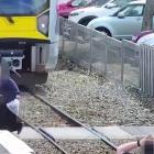 Harrowing CCTV footage released by Kiwirail shows Kiwis' near misses with trains as the...