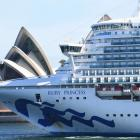 The Ruby Princess left Sydney on March 8 for New Zealand and returned 11 days later. Photo: Getty...
