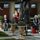 Dunedin singer Sophie Morris performs for residents at the Yvette Williams Retirement Village on...