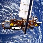 The satellite is shown in this NASA photo dated September 1991.