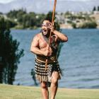 Tourists want to know more about Maori culture ...  Joe Waide, of WanaHaka, at work. PHOTO:...
