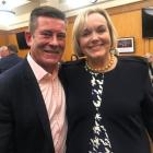New National Party leader Judith Collins and Michael Woodhouse were all smiles before Tuesday's...