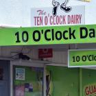 The 10 O'clock Dairy has been targeted before. Photo: ODT files