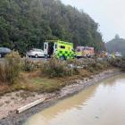 The scene of the crash. Photo: Supplied via NZ Herald