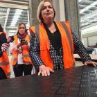 Judith Collins at a business visit in Matamata. Photo: NZ Herald